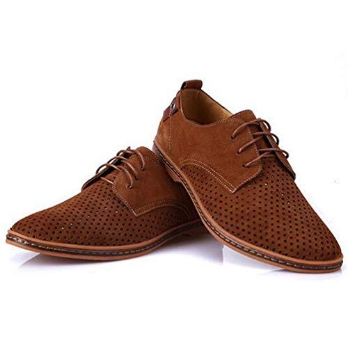 Salidas Hueco Vestir Charol Oxford Los Respirable Negocios Zapatos Punta Zapatos Formales Hombres Camello Zapatos para Hombres EqcHtt