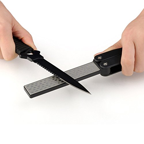Pocket Two Side Diamond Outdoor Sharpening Stone Multifunction Knives Grinder Sharpener Tool ()