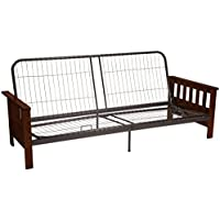 Berkeley Mission-style Futon Sofa Sleeper Bed Frame, Queen-size, Walnut Arm Finish