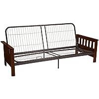 Berkeley Mission-style Futon Sofa Sleeper Bed Frame, Queen-size, Walnut Arm Finish