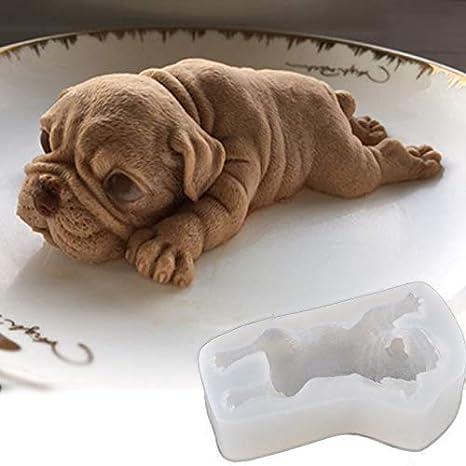 Tofree Molde de silicona para tartas de chocolate o galletas con forma de perro: Amazon.es: Hogar