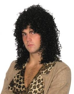 Incredible Mens Curly Shoulder Length Rock Star Wig Black Size Amazon Co Short Hairstyles For Black Women Fulllsitofus