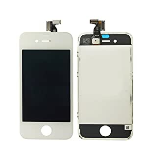 ePartSolution-White iPhone 4S Front LCD Display Screen + Touch Digitizer Assembly Frame Compatible Replacement Part USA Seller