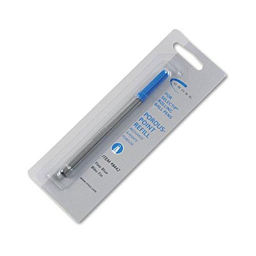 Cross - Refill for Selectip Porous Point Pens, Fine, Blue Ink 8442 (DMi EA