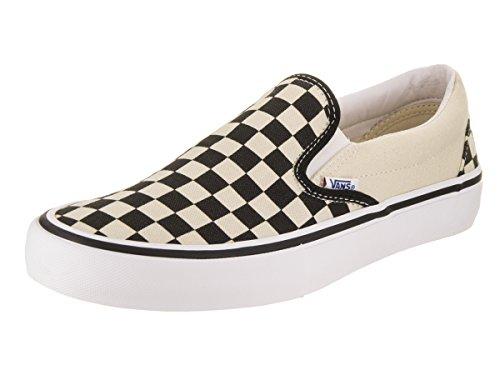 VANS - SLIP ON PRO - black white red (Checkerboard) Black/White