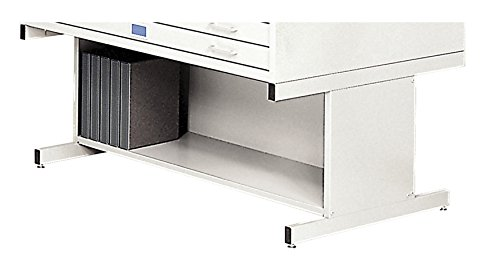 Safco Products 4979WH Flat File High Base for 5-Drawer 4998WHR Flat File, sold separately, White by Safco Products