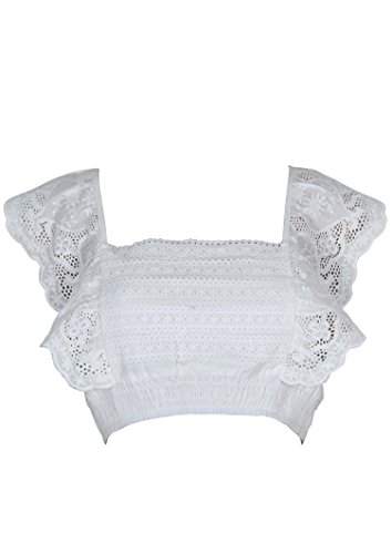 cupcakes and cashmere Somedays Lovin Women's Carry Away Crop Top, Off White, Extra Small (S) (Crop Cashmere)