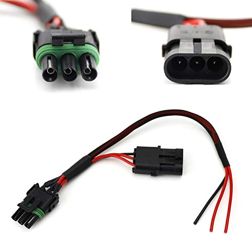 iJDMTOY Tail Light In-line Auxiliary Power Plug/Harness For 2017-up Can-Am Maverick X3 Installing LED Whip/Brake Light/License Plate Light, etc