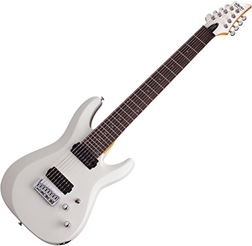 Schecter C-8 DELUXE Satin White 8-String Solid-Body Electric Guitar, Satin White by Schecter