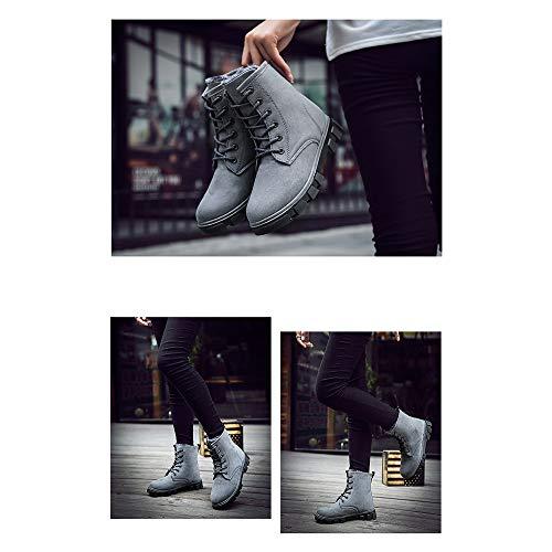 Neuves D'hiver Bozevon Plates Bottes Pour En Taille Neige Grande De Coton Coréen Femmes Gris Style Chaudes 5R5xYqwr