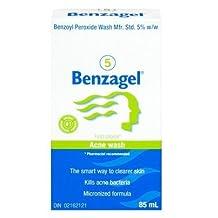 Benzagel 5 Acne Wash Micronized Formula Kills Acne Bacteria 85mL (3.03 fl oz) by Benzagel