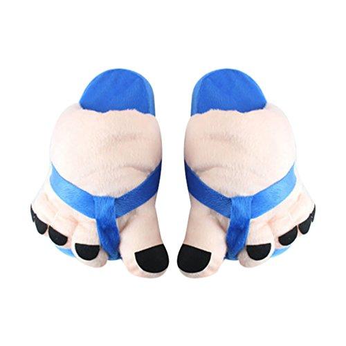 YOUJIA Damen Bequeme Kuschelige Winterschuhe Warme Plüsch Hausschuhe Flauschige Pantoffeln Witzige Große Füße Toes Hauspantoffeln, Pink