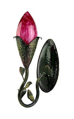 Jay Strongwater Hutchinson Flower Bud Wall Sconce - Right, WE Ship Same Day