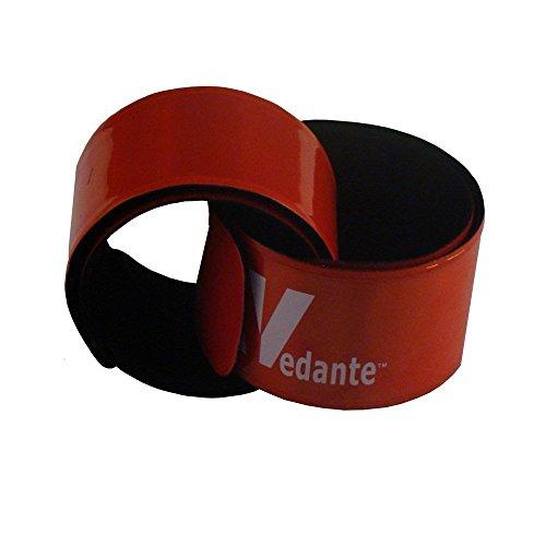 Vedante - Par de bandas reflectantes en embalaje sostenible, Largo, Rojo