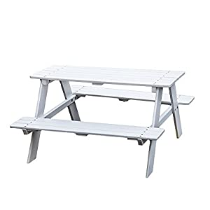 KAO Mart Kids Children's Wooden Picnic Table Bench