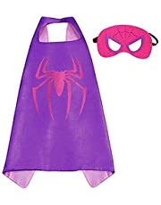 Double sided Kids Spiderman Top Costume with mask and cape, 4-8 years Kids Boys Parties Festival Batman Costume, Justice League superhero Costume