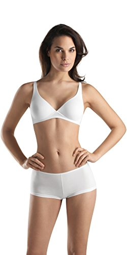 - HANRO Women's Cotton Sensation Soft Cup Bra,White,32C