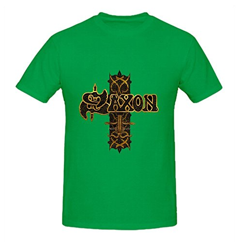 Saxon Stgeorges Day Sacrifice Live In Manchester Comfot T Shirt For Men Green (V-neck Footlocker)