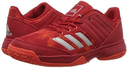 Pictures of adidas Unisex Ligra 5 K Tennis Shoe BY1859 Scarlet/Energy/Metallic Silver 4