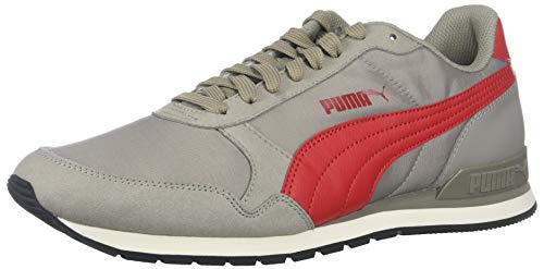 - PUMA ST Runner V2 Sneaker, Elephant Skin-Ribbon red, 13 M US