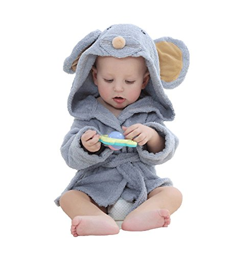 Baby Mouse Hooded Towel Washcloth Organic Cotton Wash Towel For Toddler Infant Newborn Baby Girls Boys,0-1Years
