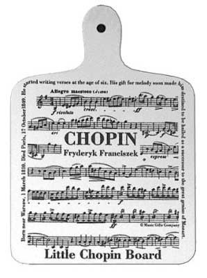 Chopin sheet music chopping board