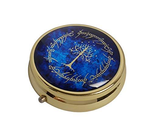 COW GO GO The Tree Custom Design Fashion Gold Round Glass Pill Case Decorative Metal Pill Box
