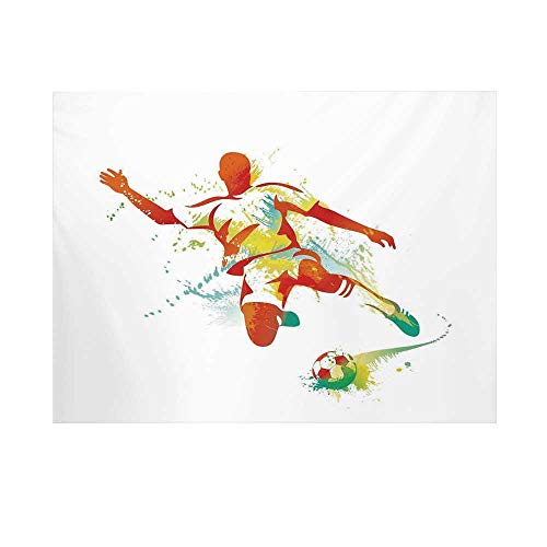 Sports Decor Photography Background,Soccer Player Kicks The Ball Competitions Paint Splashes Speed Boots Art Backdrop for ()
