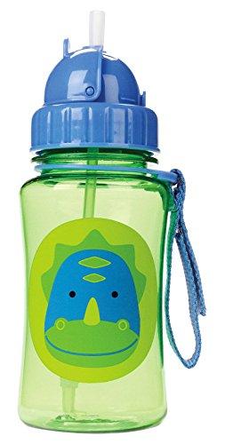 Skip Hop Baby Zoo Little Kid and Toddler Feeding Travel-To-Go Flip Top Straw Bottle, 12 oz, Multi Dakota Dinosaur (Flip Chart Ease compare prices)