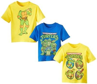 Teenage Mutant Ninja Turtles Boys' 3 Pack T-Shirt