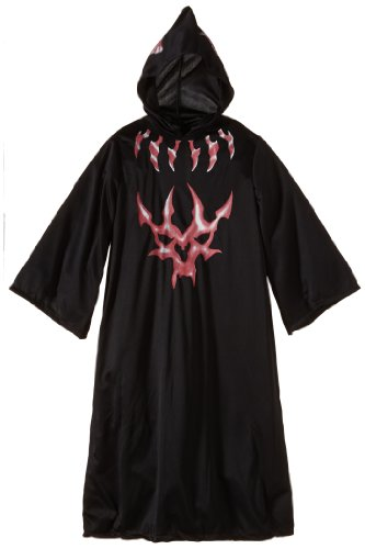 Halloween Concepts Child's Black and Red Devil Robe, Medium (Devil Robe Child Costume)