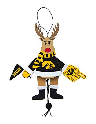 NCAA Iowa Hawkeyes Wooden Cheer Ornament (Brown Hawkeyes Iowa Football)