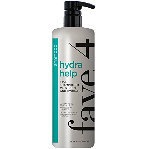 - fave4 Hydra Help Fave Shampoo Fanatic Size for Added Moisture and Hydration- Sulfate Free | Paraben Free | Gluten Free | No Added Sodium Chloride | Cruelty Free | Safe for Color Treated Hair, 25.36 oz