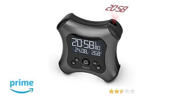 Oregon Scientific RM330P_GR - Despertador digital retroiluminado controlado por radio con proyector y temperatura interior, gris oscuro: Amazon.es: Hogar