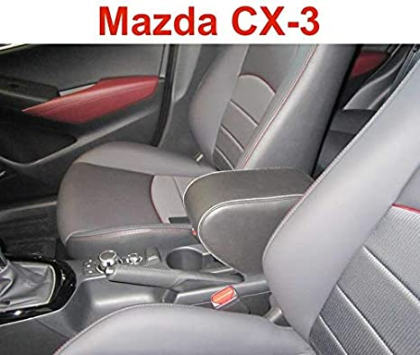 Pywee per Toyota Yaris iA Limousine 2017-2018 Colore: Nero in Pelle Adatto per Mazda CX-3 2015-2018 Bracciolo Auto a Doppio Strato
