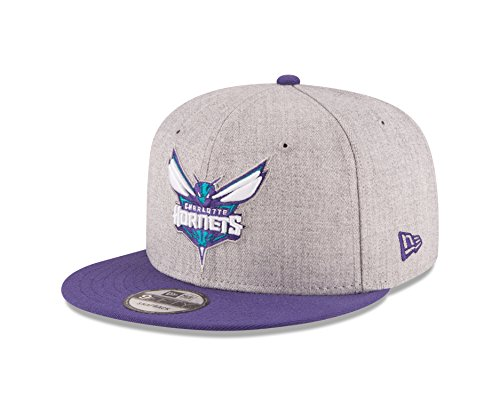 New Era NBA Charlotte Hornets Adult Men NBA 9Fifty 2Tone Heather Snapback Cap,OSFA,Heather ()