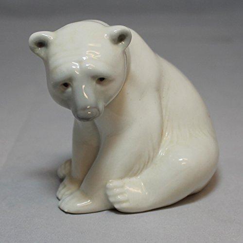 (Lladro Figurine, 1209 Seated Polar Bear)