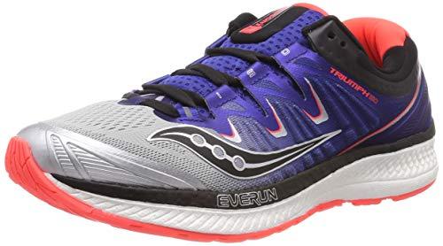 - Saucony Men's Triumph ISO 4 Sneaker, Silver/Blue/Vizi red, 105 M US