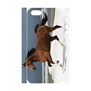 lintao diy 3D Bumper Plastic Customized Case Of Horse for iPhone 5,5S