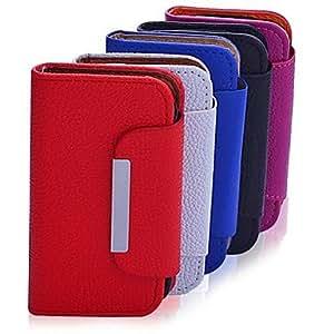 Lureme alta calidad Sólido Cuero Color caja de la PU del cuerpo para el Samsung Galaxy SIII I9300 mini (colores surtidos) , Rose