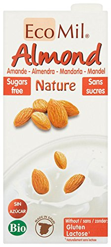 Ecomil Organic Almond Natural Drink 1 Litre (Pack of 3)