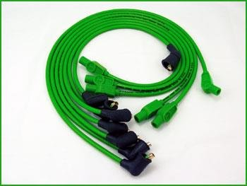 Sumax 8mm Custom Colored Plug Wires - Green 76981