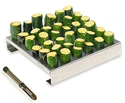 King Kooker Stainless-Steel 36-Hole Jalapeno Rack with Corer 36JR New