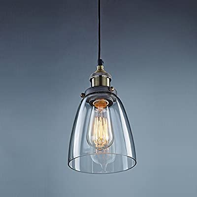 Huntvp Lampe Suspension Rétro Industrielle E27 Vintage Abat Jour En