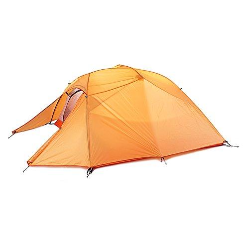 心配する君主考えたキャンプテント 2-3人用 2層構造 アウトドア キャンプ 春 夏 秋 3シーズン適用 シリコン塗りナイロン 軽量 防水 ツーリングテント