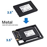 2.5' to 3.5' Drive Converter Hard Drive Bracket SATA Hard Drive or SSD Converter Bracket for Mac/PC 2.5 Inch SSD to 3.5 Inch Internal Hard Disk Drive Mounting Kit Bracket Make Your Old MAC Faster