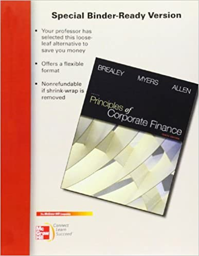 Principles of corporate finance brealey myers 10th edition solutions.