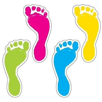 amazon com carson dellosa footprints cut outs 120083 themed