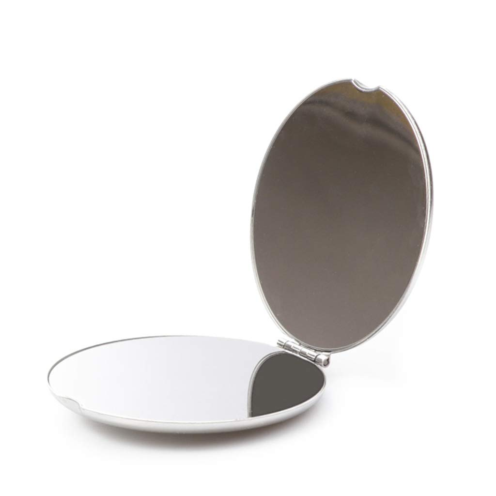 HUACANG Metal Portable Mirror Double-Sided Makeup Mirror HD Student Pocket Mini Makeup Mirror Girl Gift Holding Mirror