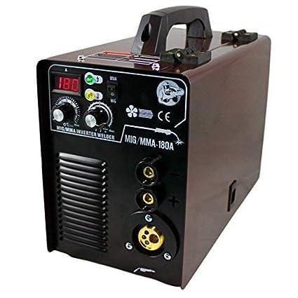 Mig Mag / Mma Máquina Soldadora 230V MIG-180 Igbt Inverter Careta ...